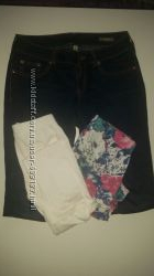 Пакет одежды на девочку 146-164см. 4 штук лосин, и джинсы