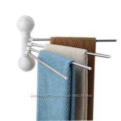 Вешалка для полотенец, полотенцесушитель на присосках 4шт. код 4 bar towel