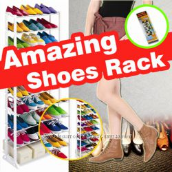 Полки для обуви Amazing Shoe Rack стеллаж на 30 пар