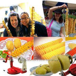 Машинка для спиральной нарезки картофеля и овощей Spiral Potato slicer