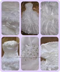 Шикарное фотогеничное удобное классическое свадебное платье  40-44 размер