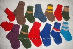 Носочки шерстяные вязанные вручную