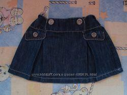Джинсовая юбка на девочку 3-6 лет