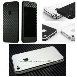 Карбон Carbon наклейка на панели корпус для iPhone Айфон 4 4s 5 5s SE 3 в 1