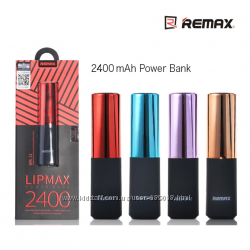 PowerBank 2400mAh Remax LipMax RPL-12 Помада Подарок Доставка Бесплатно