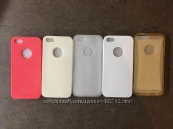 Силиконовый ультра тонкий чехол на iPhone 5 5s защитная пленка в подарок