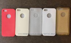 Силиконовый чехол іPhone 55s с заглушками Защитная пленка в подарок