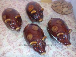 Очаровательные керамические горшки-свинки