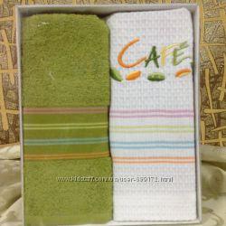 полотенца кухонные в наборе и на петельке поштучно