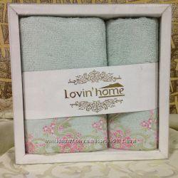 Набор бамбуковых полотенец с вышивкой