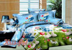 Детское постельное бельё смурфики от производителя