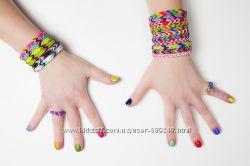 Скидка - 70 процентов LOOM BANDS - наборы для плетения цветными резинками