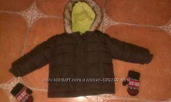 Куртка, в подарок варежки