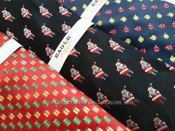 Новогодние шелковые галстуки из США