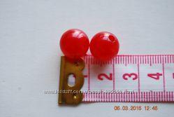 бусинки красные разных размеров