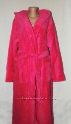 Женский длинный махровый халат большого размера