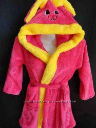Детский теплый махровый халат на девочек и мальчиков