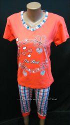 Летние пижамы футболка с бриджами