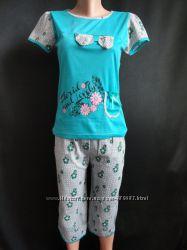 Летние пижамы с бриджами и шортами.