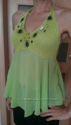 Блуза-майка-туника WAGGON новая ярко фисташкового цвета