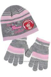 Новый комплект шапка и перчатки Tati для девочки, размер 52 см