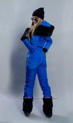 Женский зимний, тёплый, лыжный комбинезон