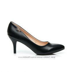Туфли из эко кожи с кожаной стелькой