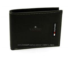 Мужской кожаный кошелек Tommy Hilfiger - 0091-3008 black