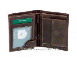 Мужской кожаный кошелек Visconti 708 - Spear oil brown