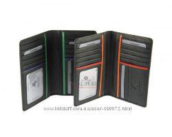 Кожаный мужской купюрник Visconti BD-12 - Jaws black multi