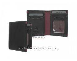 Мужской кожаный кошелек для кредитных карт Visconti AP-60 - Thun BlackBur