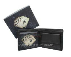 Мужской кожаный кошелек Visconti PKR-40 - Poker Black