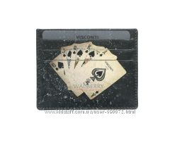 Кожаная кредитница Visconti PKR-44 - Poker Black
