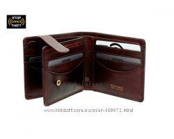 Мужское кожаное портмоне Visconti TSC-43 c RFID - Montieri Brown