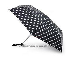 Женский зонт Fulton Miniflat-2 - L340 - White Spot Белый горох