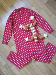 Очаровательная пижама слим флисовая