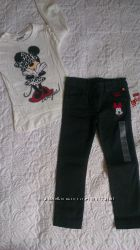 Фирменные джинсы для девочки с Минни