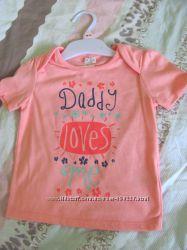 Нежно-розовая футболочка для папиной дочки F&F Tesco