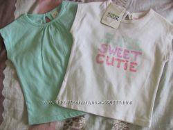 Удобные натуральные футболочки C&A цена за две
