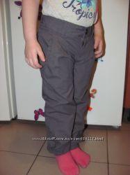 Штаны цвета хаки с хлопковой подкладкой немецкого бренда Kik
