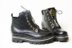 Кожаные ботинки. Зима.