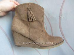Полу сапожки ботинки BOCAGE замшевые