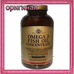 Solgar, Омега 3, рыбий жир концентрат, из сайта iHerb 120 капсул, в наличии
