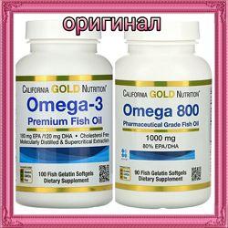 California Gold Omega 3 Омега 3 рыбий жир. В наличии Акция