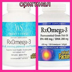 WomenSense, RxOmega-3, Женская формула, Омега 3, 120 шт в наличии