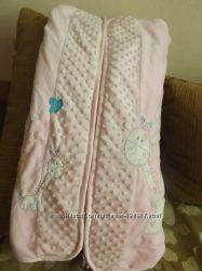Плюшевое одеяло конверт для прогулки
