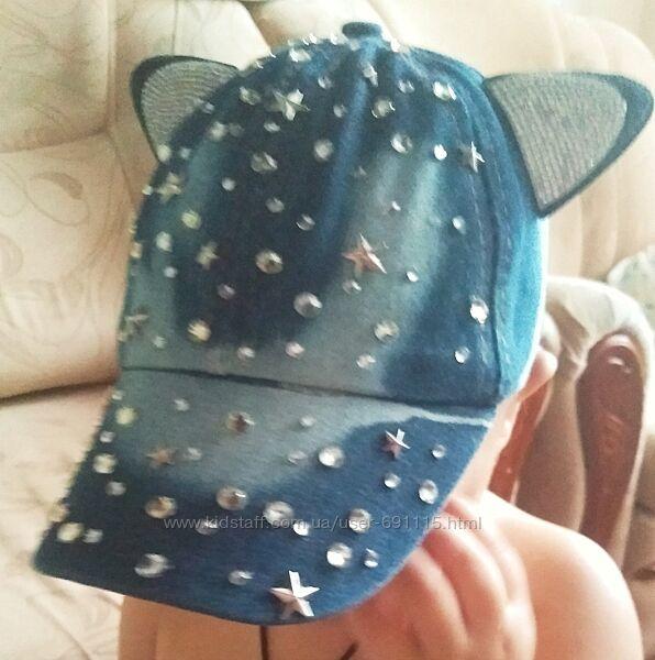 Кепка бейсболка панамка на девочку на 1-2,5 годика на ОГ 46-48 см