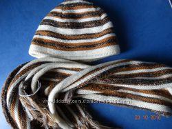 Женский зимний комплект, шарф шапка