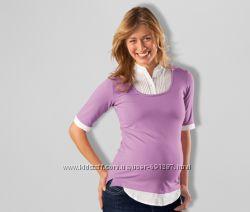 Стильна блузка-туніка 2 в 1 для вагітної від Tchibo, європейський розм38-40