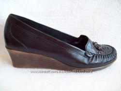 Туфли Кожа танкетка Monarch, стелька 24, 7